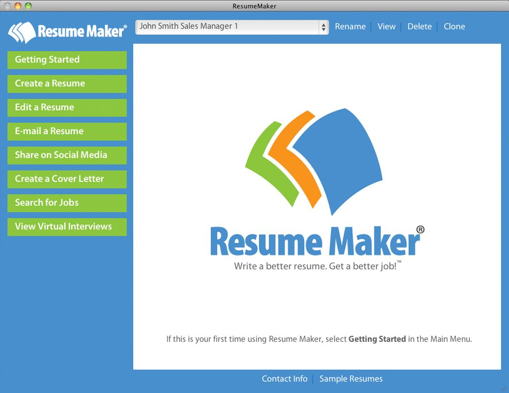 Resume Maker Mac Resume Maker Mac Offers Latest Technology Individual