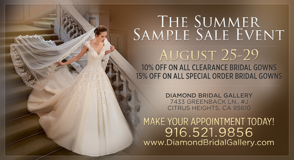 End Of The Summer Bridal Clearance Sale -- Diamond Bridal