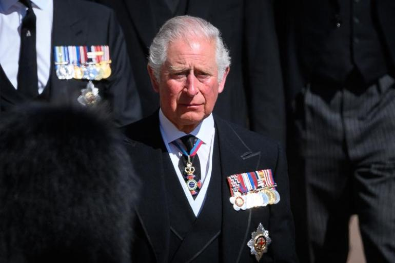 Prince Charles led the procession