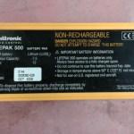 Physiocontrol  Lifepak 500 battey Battery pak – Used