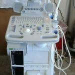 GE LOGIQ P5 Ultrasound System with 4 PROBES – 9L – 11L – E8C – 4C and Manuals – Used