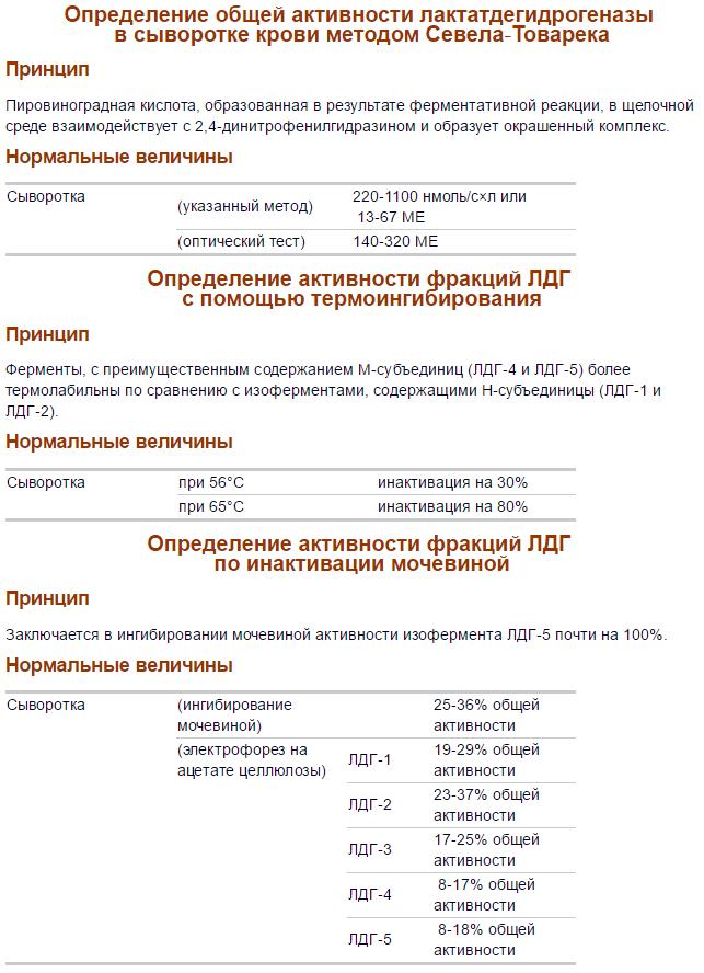 Анализ на ЛДГ назначение норма и причины отклонения фермента