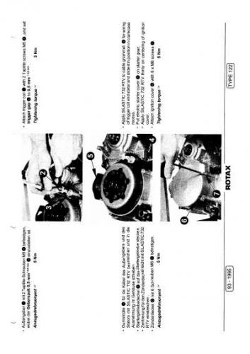 Aprilia RS 125 Rotax Engine 122 repair manual 1999-2003