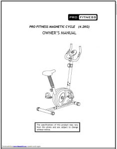 Pro Fitness Brand Equipment Manual Library