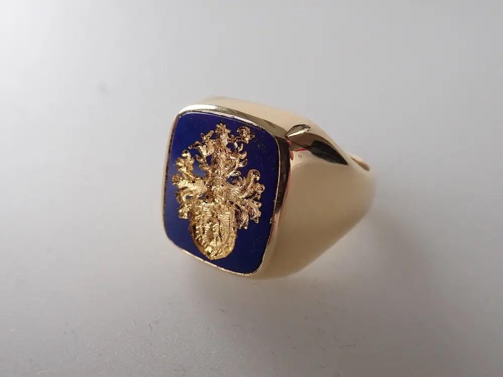 Siegelring und Wappenring  Handarbeit von Pro Heraldica