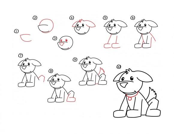 12. Как нарисовать собаку в мультяшном стиле