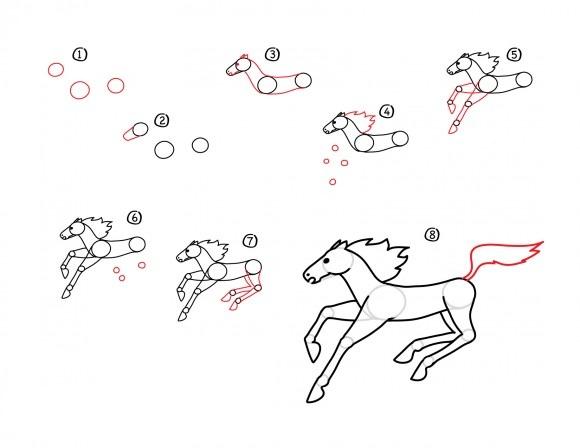 10. Как нарисовать лошадь