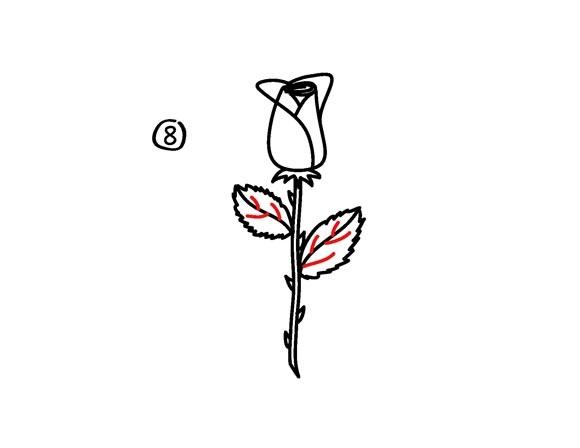 02. Как рисовать розу – самый простой способ