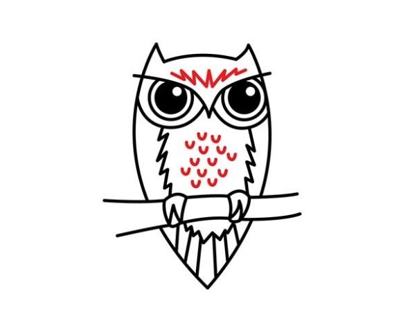 01. Как нарисовать сову – быстро и просто!