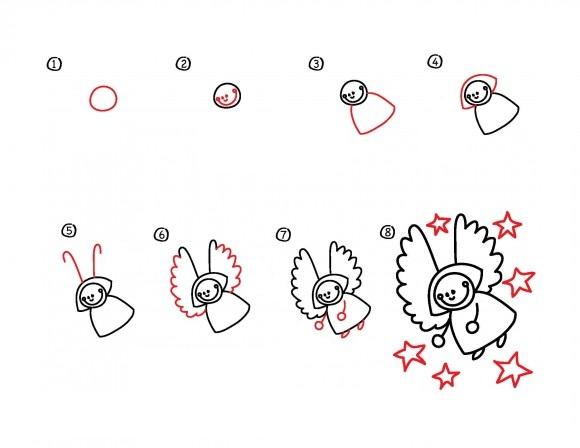 10. Как нарисовать ангела вместе с детьми