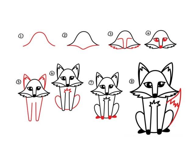 01. Как нарисовать лису в мультяшном стиле