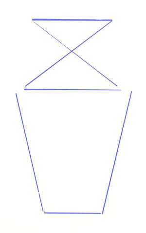 Nakreslete mezní linie vázy