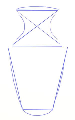 Přípravné obrysy vázy