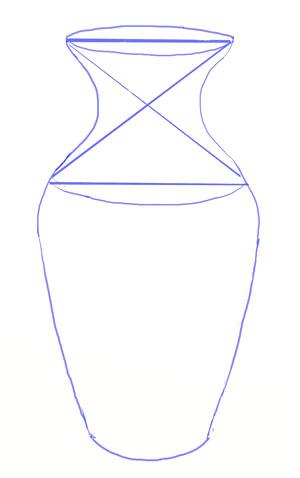 Určujeme obrysy celého výkresu vázy