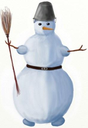 Как нарисовать Снеговика поэтапно