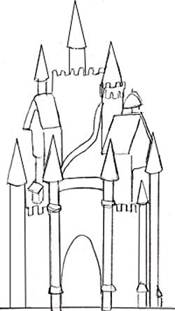 Изобразим детали башен