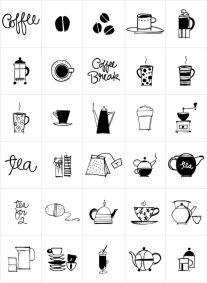 Черно-белая распечатка для ЛД-Кухонные пренадлежности