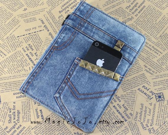 Обложка для ЛД с карманом для телефона
