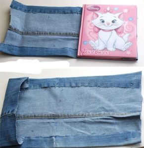 Обложка для для личного дневника из джинс