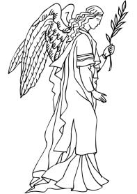 Раскрасски для детей - ангелочки и ангелв распечатать в хорошем качестве5