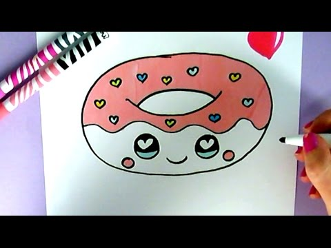 Рисунок сквиши - красный пончик