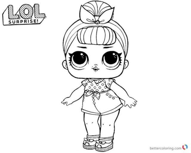 куклы lol раскраски
