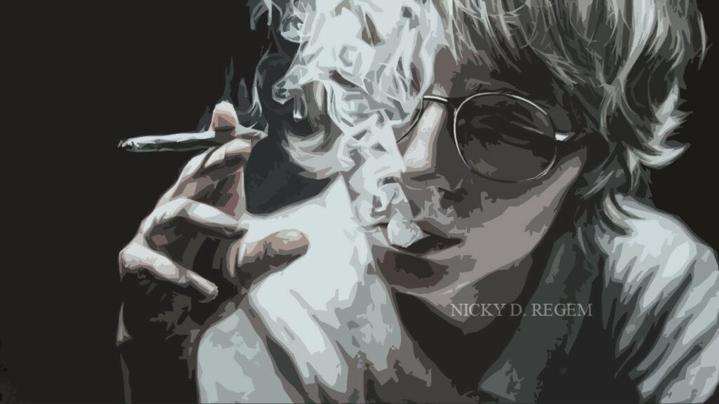 парень курит арт ники регем про курение
