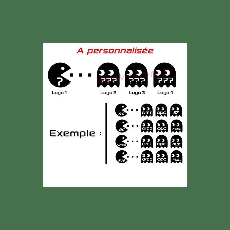 Sticker Pac Man A personnalisée