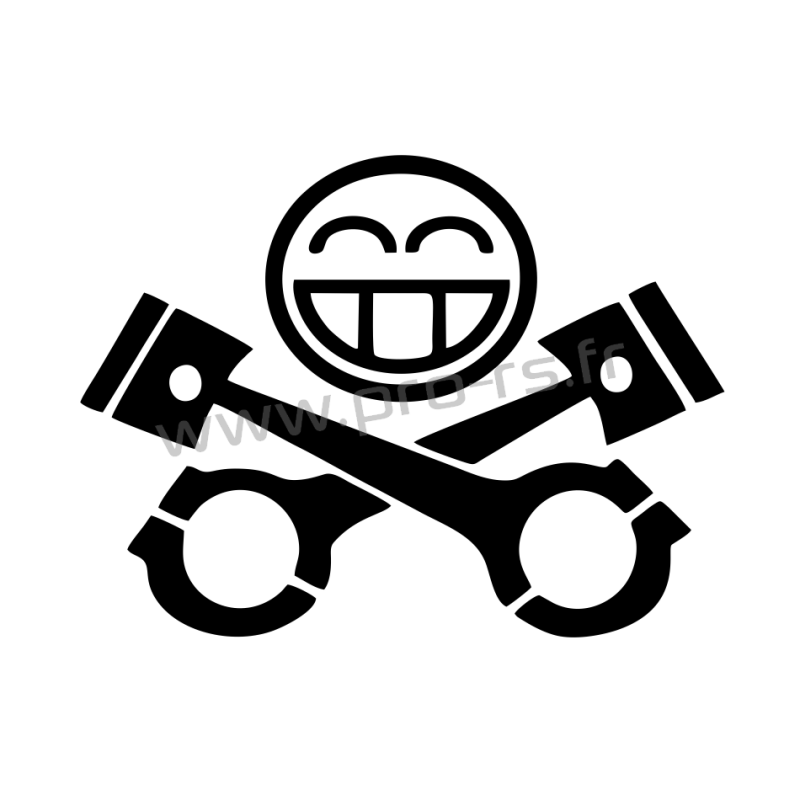Sticker Smiley Motor