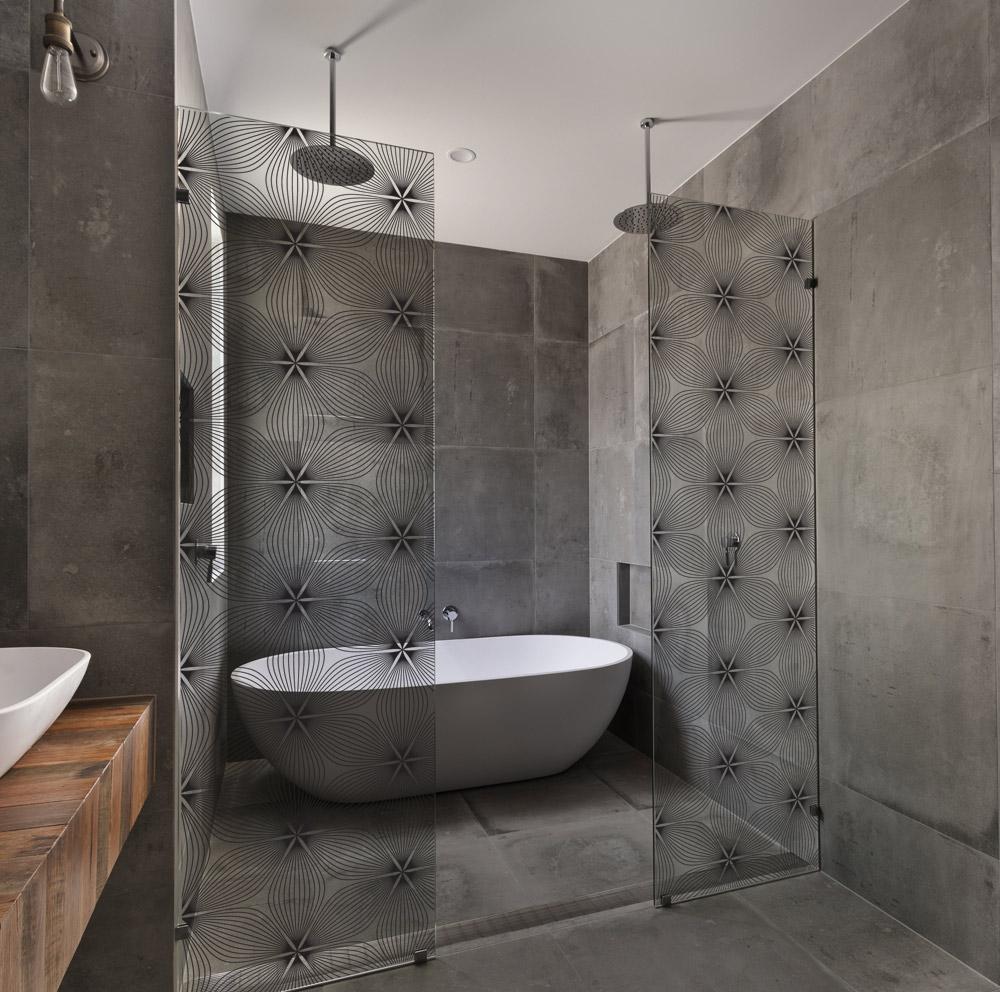 adh sifs et films pour vitres pour relooker un pare douche acte deco. Black Bedroom Furniture Sets. Home Design Ideas