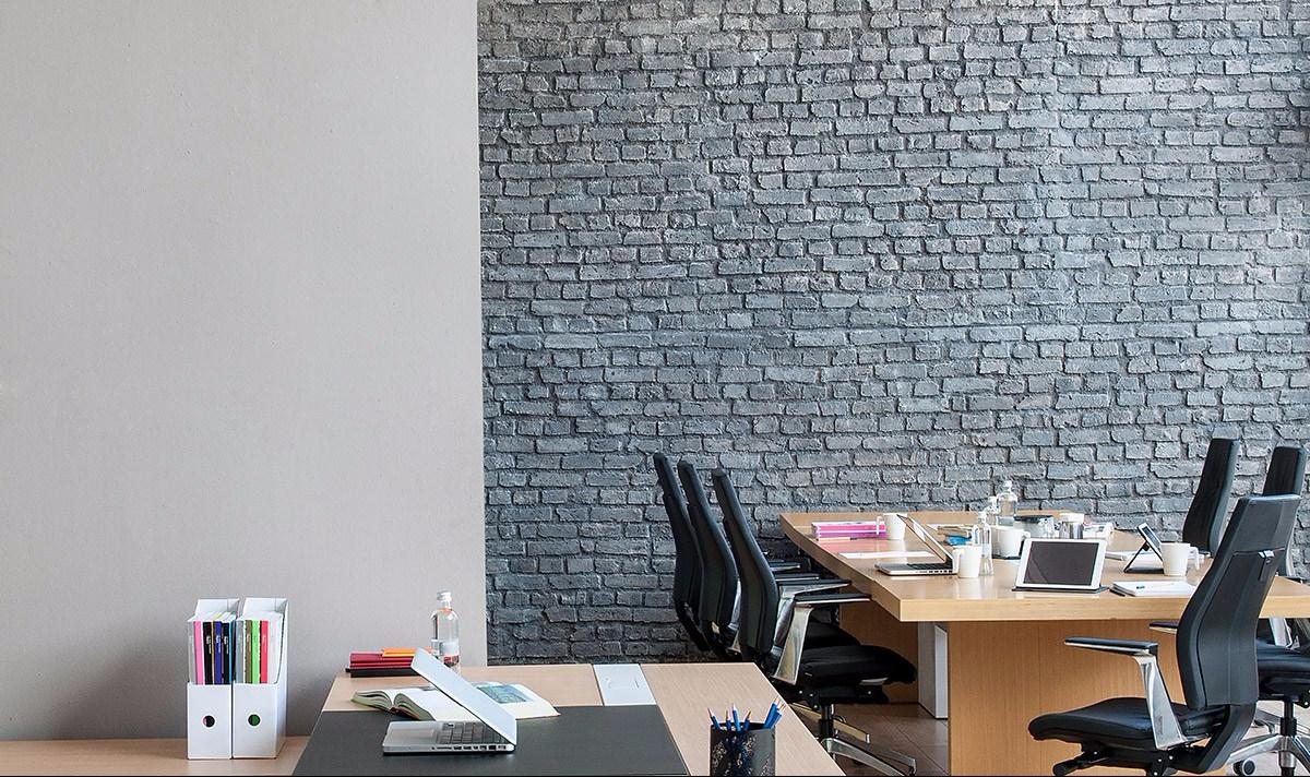 Papiers peints Briques grises