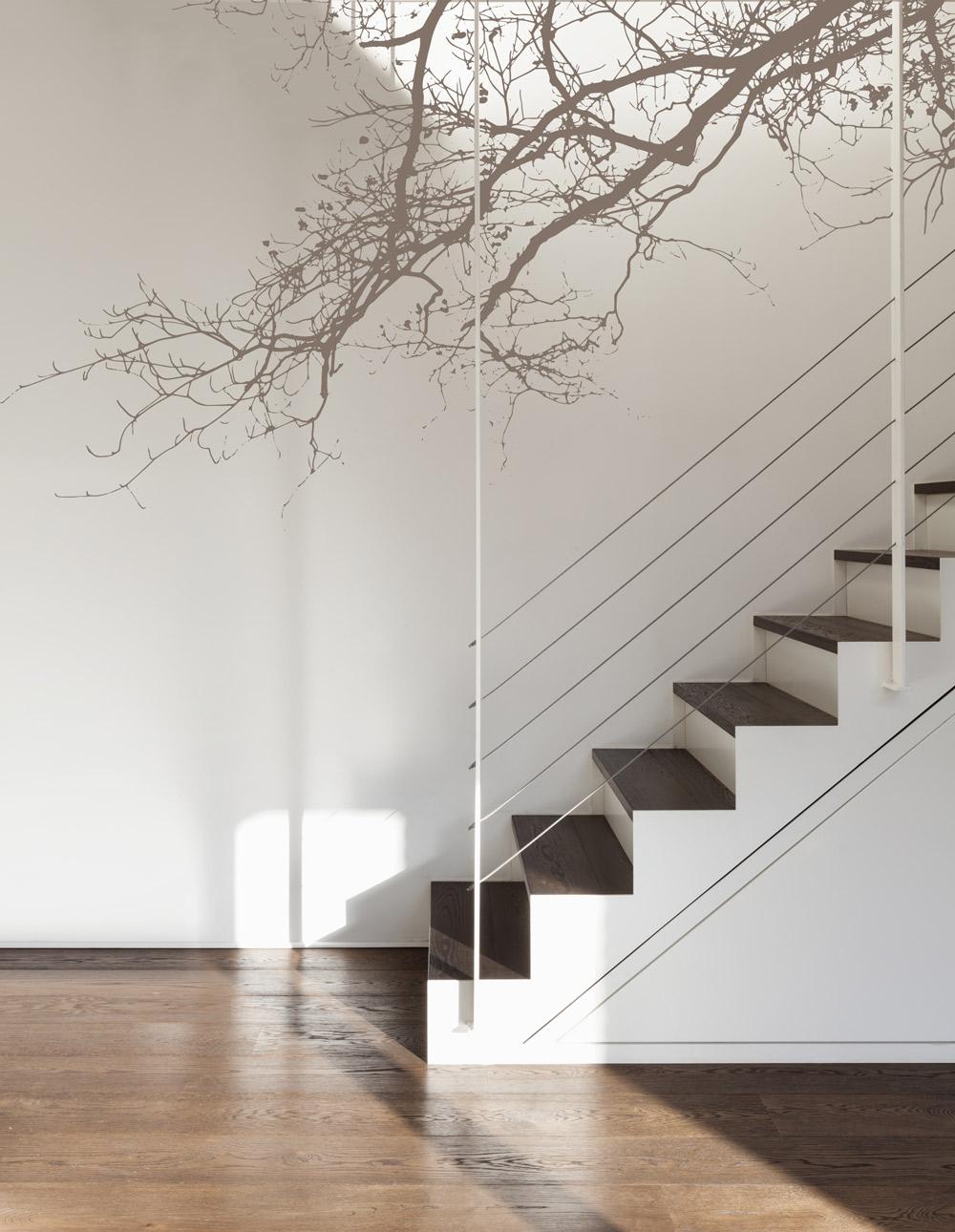 Adhésif abstract branch