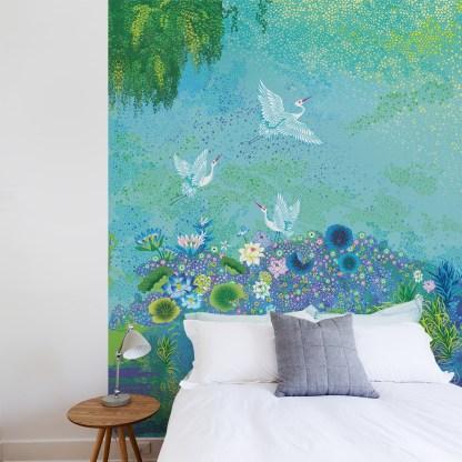 Papier-peint Hommage à Monnet - Artiste © Peggy Nille