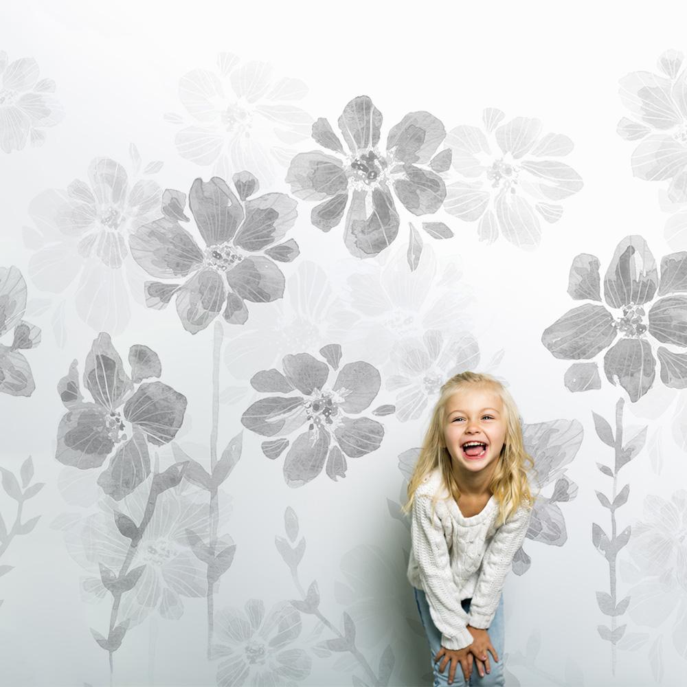 Papier peint Poésie de fleurs ©Sandrine Fourrier