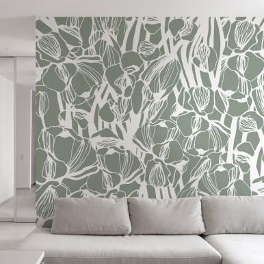 Papier peint panoramique Pivoine- Silowane