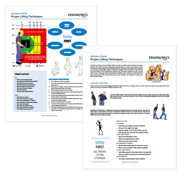 Ergonomics and Injury Prevention Handouts