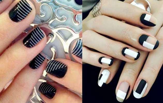 сочетание черного и белого