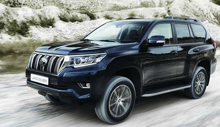 передняя оптика Toyota Land Cruiser Prado 2019