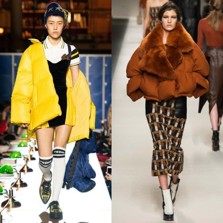 По-прежнему в моде просторные и уютные дутые куртки, по фасону изделия  напоминают спортивные бомберы. Плечи для модных изделий должны быть  подчеркнуто ... e2ecf1dbb5c