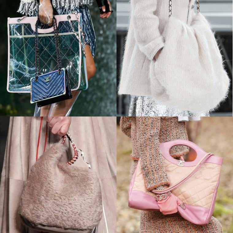 Стеганые сумки и изделия из меха