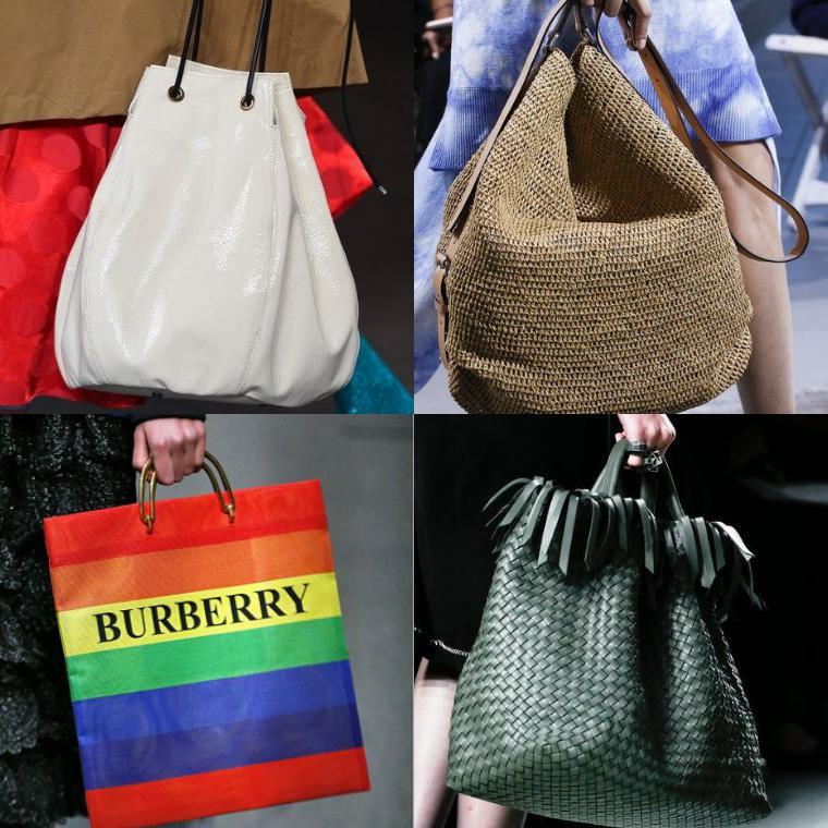 сумки стилизованные под пакеты и мешки