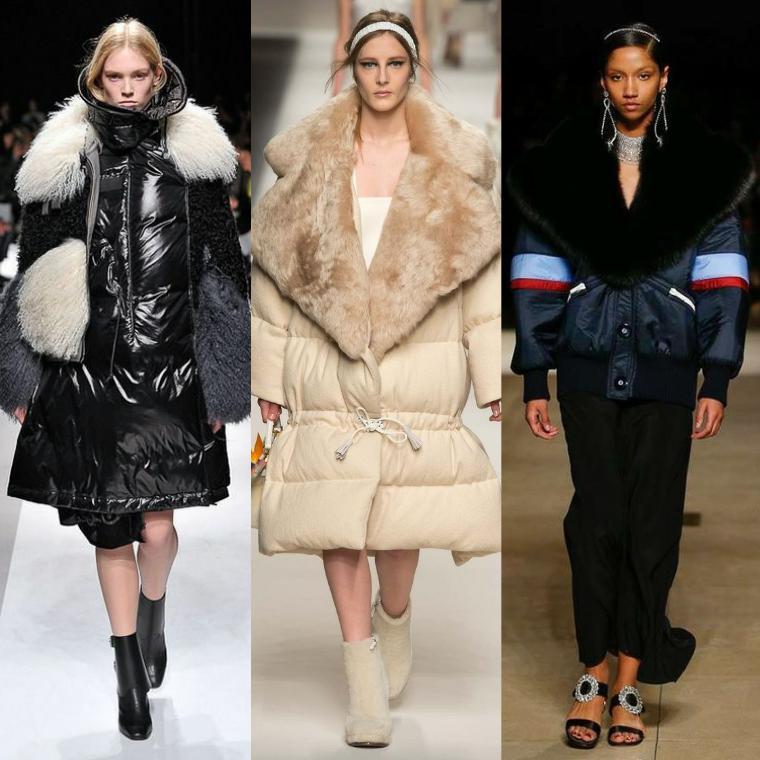 женские пуховики осень зима 2018 2019 модные тренды на фото
