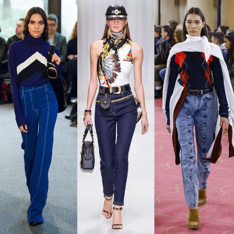 f88a40a7ea3e Модные джинсы 2019: тенденции, 90+ фото, новинки