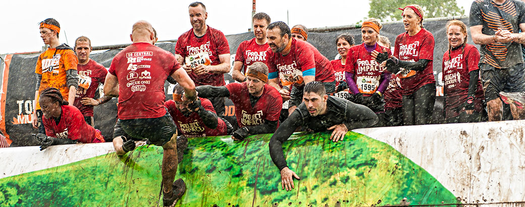 Branding opportunities at Tough Mudder Ireland 2016.