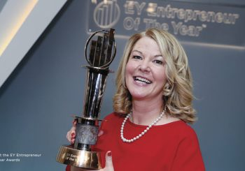 Evelyn at the EY Entrepreneur of the Year Awards