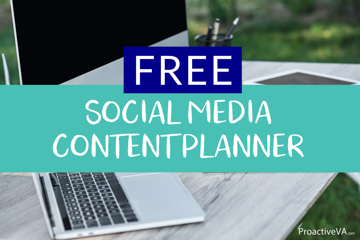 Free Social Media Content Planner Template