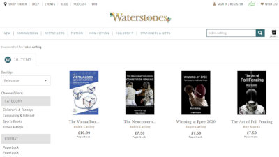 Also listed at Waterstones