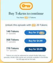 Examples of  Amazon Vella tokens