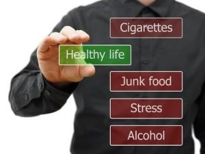 31672205 - man choosing healthy life option