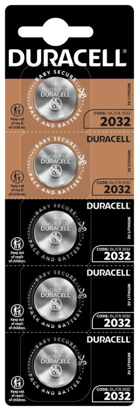 Duracell CR2032 nappiparisto 5 kpl pakkaus